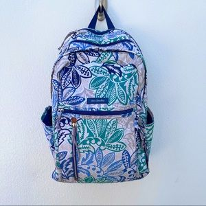 Vera Bradley Lighten Up grand backpack blue white